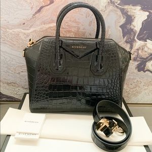 In Stores! Givenchy Small Crocodile Embossed Tote